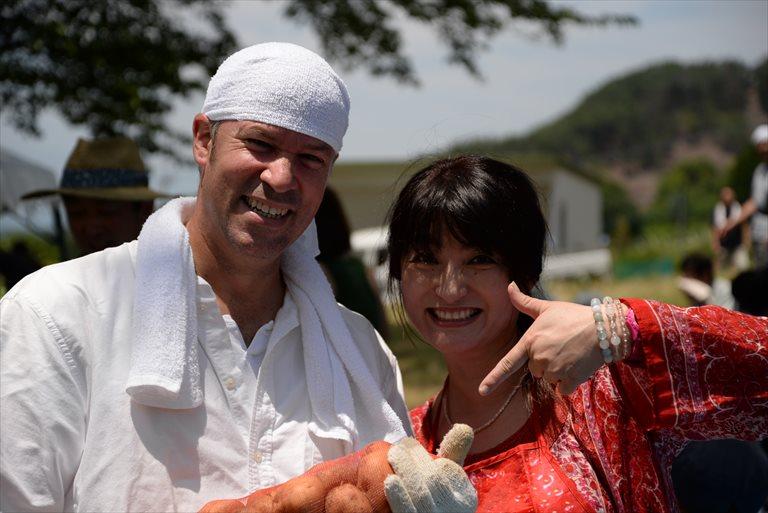 帯那のジャガイモ祭り写真